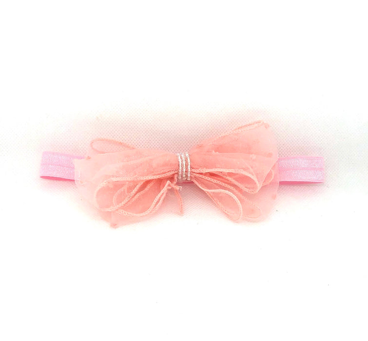 Shabby Chifffon Bow with Beads