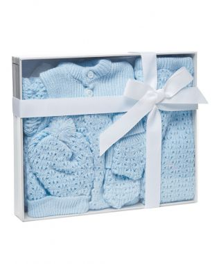 4Pc Knit Baby Gift Set 0-6M