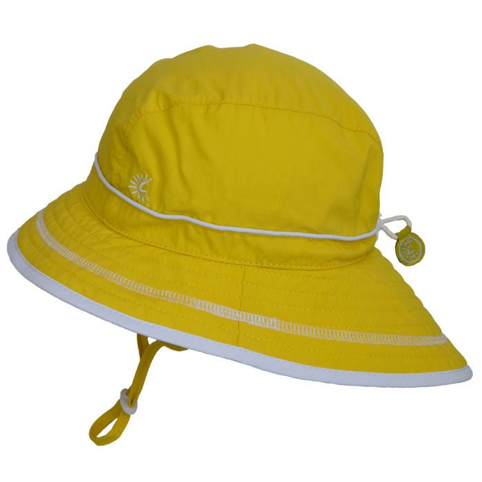 Calikids Yellow UV Beach Hat