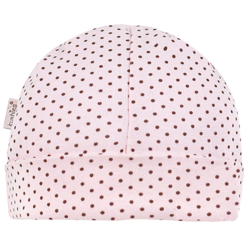 Kushies Pink Preemie Dots Hat