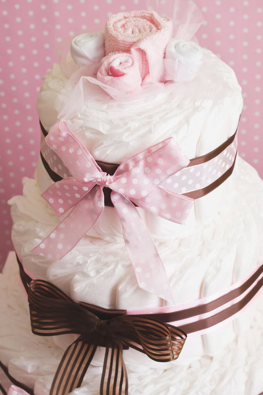 3 Tier Diaper Cake Gift Basket