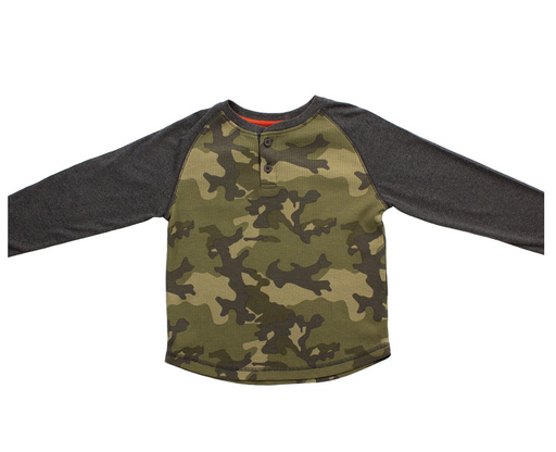 Bear Camp Boys Camo Long Sleeve