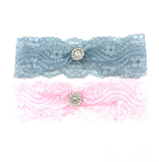Lace Headband with Jewel 2pk