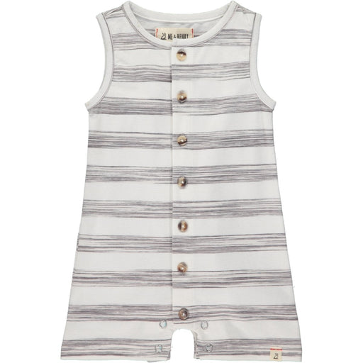 Me & Henry Baby Grey Stripe Jersey Playsuit