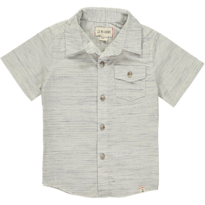 Me & Henry Toddler Grey/White Fleck S/S Shirt