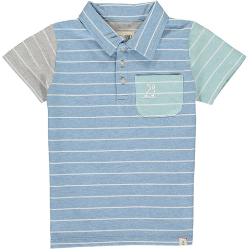 Me & Henry Toddler Blue/White Stripe Polo
