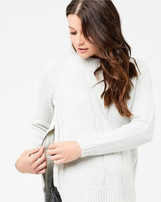 Ripe Maternity Cable Knit Nursing Sweater