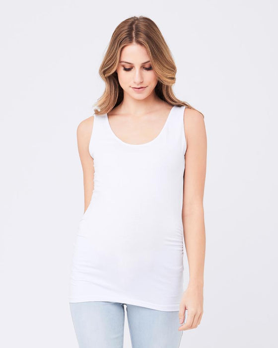 Ripe Maternity Tube Tank - White