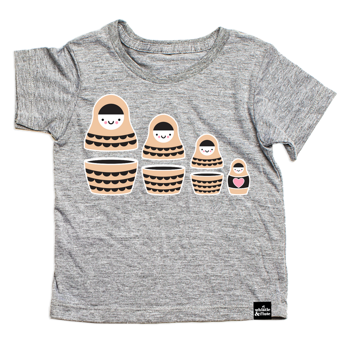 Whistle and Flute Russian Doll Tee