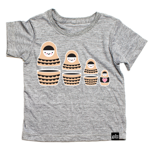 Baby Whistle and Flute Russian Doll Tee