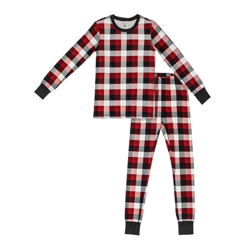 "Petit Lem ""Oh Deer"" Plaid 2 Piece Pajama Set"