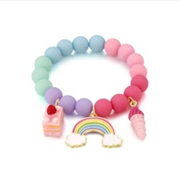 Girl Nation Charming Whimsy Cloud Luvs Rainbow Bracelet