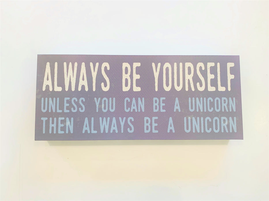 "Wooden ""Be Yourself"" Wall Art"