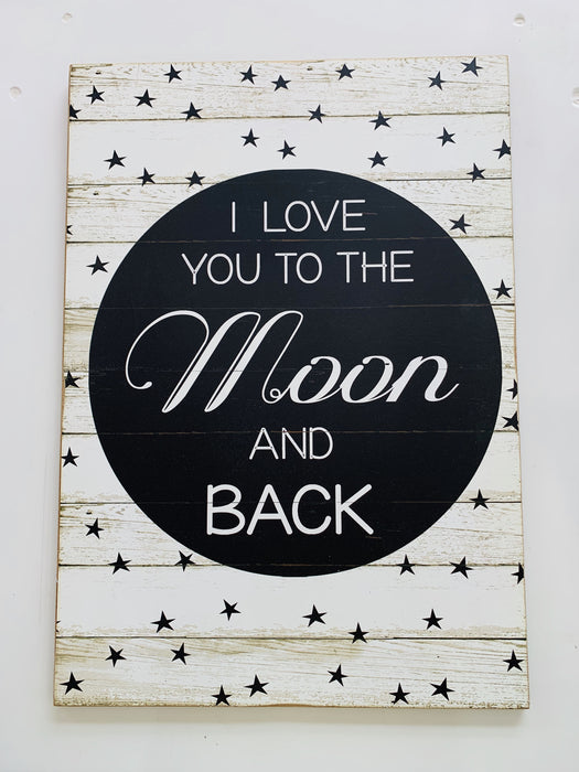 Love Moon & Back Large Sign