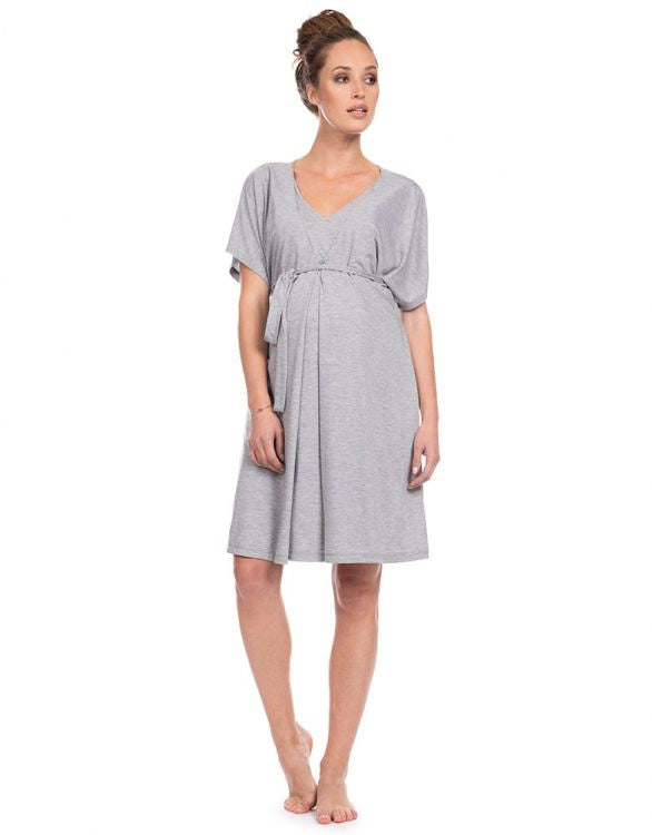 Seraphine Jaya Grey Nursing Loungewear Dress
