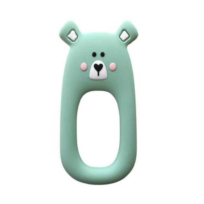 Little Cheeks Bear Teether - Mint