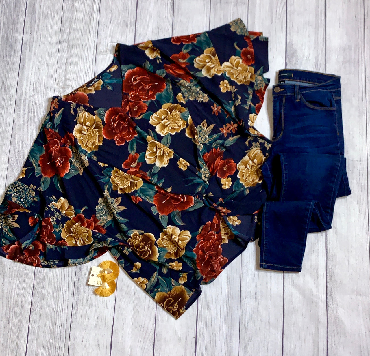 Forever Floral Twist Front Blouse