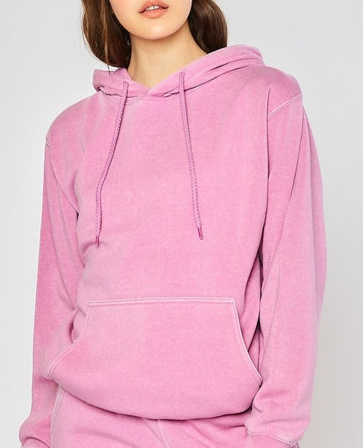 Fiona Fleece Burn Out Boyfriend's Oversized Fit Pullover // 2 COLORS