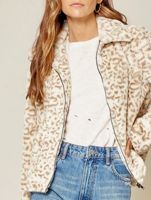 New Cat On The Block Fur Leopard Jacket