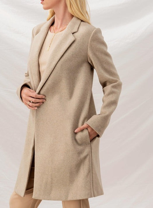 Sonja Soft-Brushed Oatmeal Over Coat