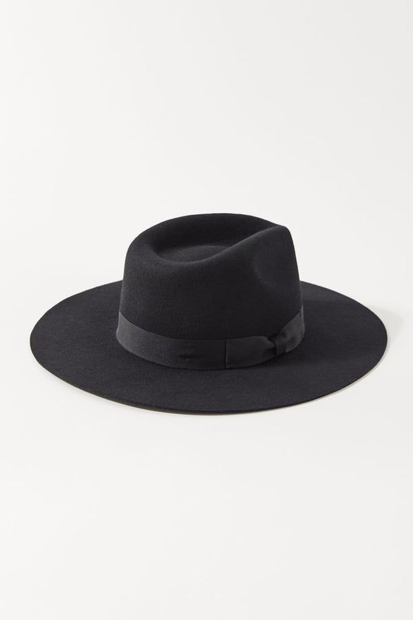 Beaumont Flat Wool Fedora Hat