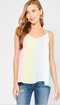 Color-Block Carnival Tank - Pastel