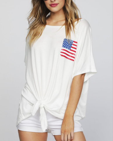 Celebrating 4th of July Graphic Top