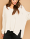Charlie Ivory Distressed Sweater