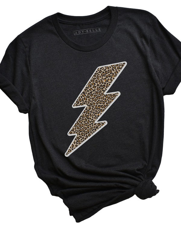 Cheetah Lightening Bolt Graphic Tee
