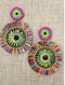 Havana Girl Beaded Fringe Earrings ~ Several Color Options