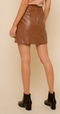 Copperhead Road Leather Mini Skirt