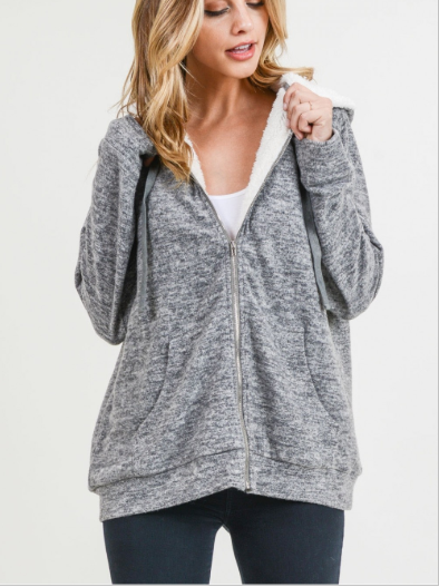 Covered in Cozy Fur Hooded Half Zip