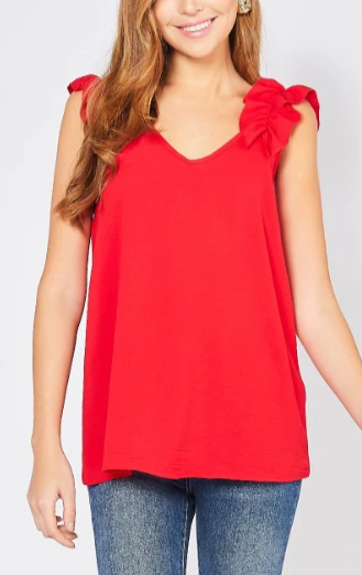 For the Frill of It Tank - Red