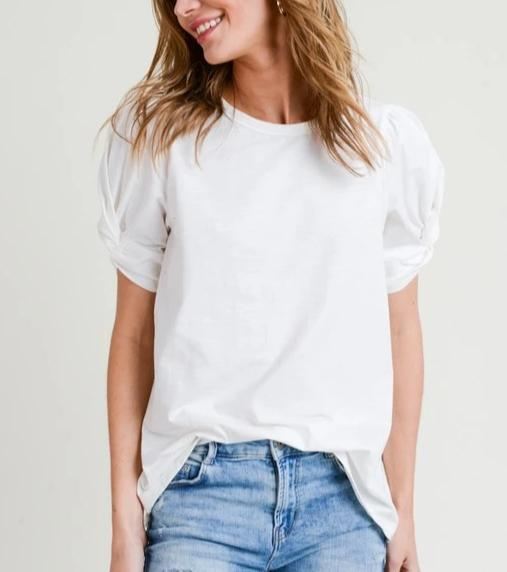 Angel Wings Twisted Sleeve Tee