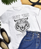 White // Get 'Em Tiger Graphic Tee