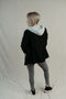 Zoey Grey Hooded Black Blazer Jacket