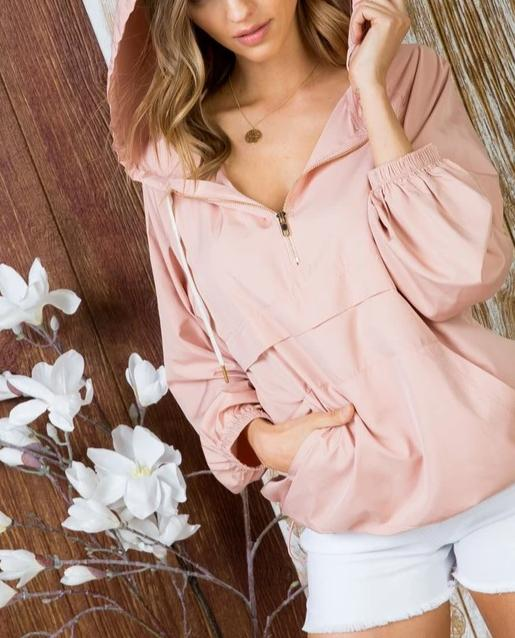 Love You More Blush Hooded Pullover