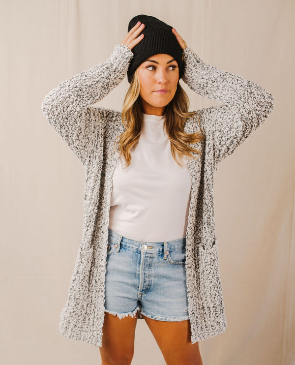 Keely Two-Tone Chenille Sweater Cardigan