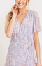 Isabella Lilac Wrap Dress