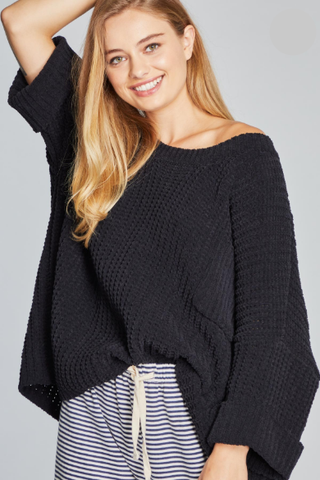 Long Day, Comfy Night Chenille Sweater