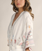 Mary Beth Embroidered Bohemian Button Down Blouse