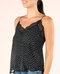 Midnight Lace Trim Polka Dot Cami