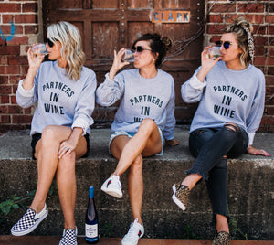 Partners in Wine Sweatshirt - (Grey/Black)