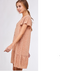Meadows Button Down Dress - PEACH