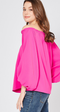 All the Goals Hot Pink Off the Shoulder Top