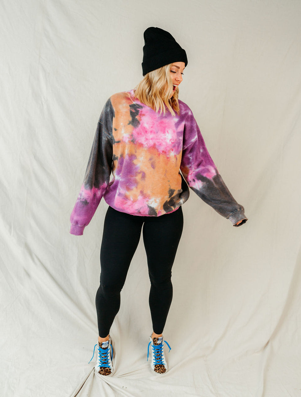 Relaxed Mindset Distressed Hem Tie Dye Pullover