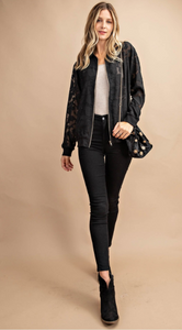 Sass with Class Floral Bomber Jacket
