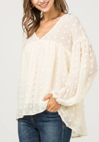 Seriously Smitten Baby Doll Top