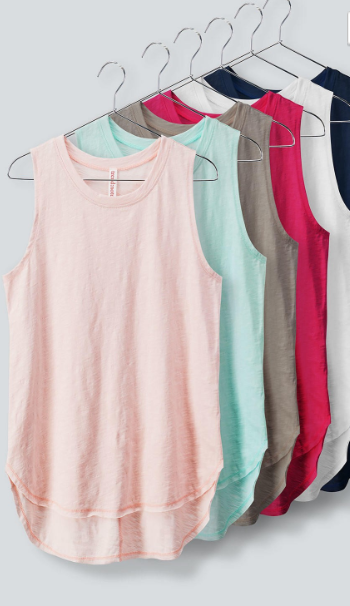 Summer Brights Cotton Slub Tank - CORAL