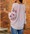 Tell Me About It Embroidered Sleeve Top